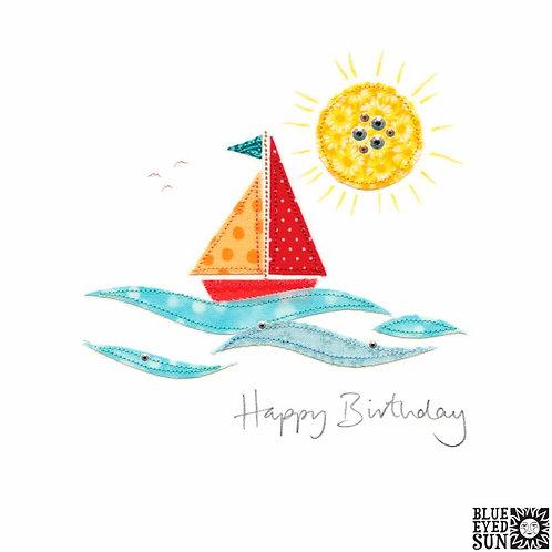 Sew Delightful Sail Boat Birthday Card