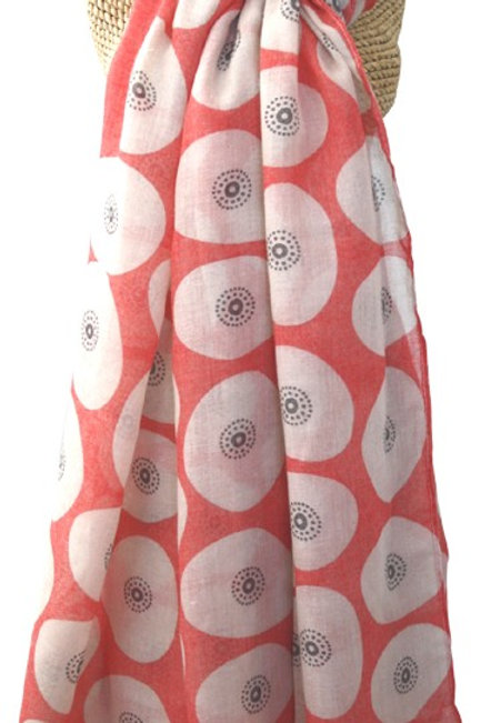 Oval Fig Printed Scarf - Chilli