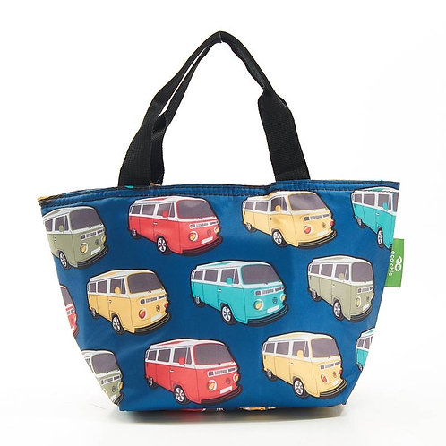Camper Van (Blue) Recycled Lunch Bag by EcoChic