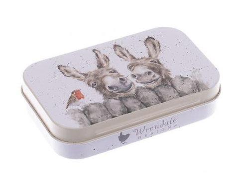 'Hee Haw' Donkeys Keepsake Gift Tin by Wrendale Designs