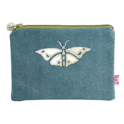 Gold Butterfly Purse - Teal