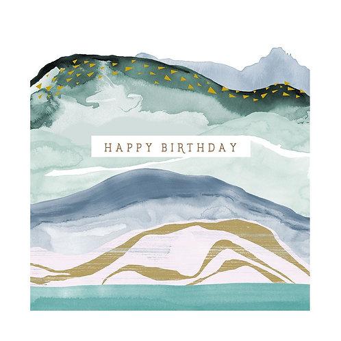 Natural Phenomenon 'Abstract Waves' Birthday Card