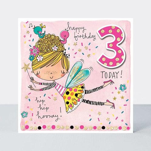 Age 3 Fairy Birthday Card