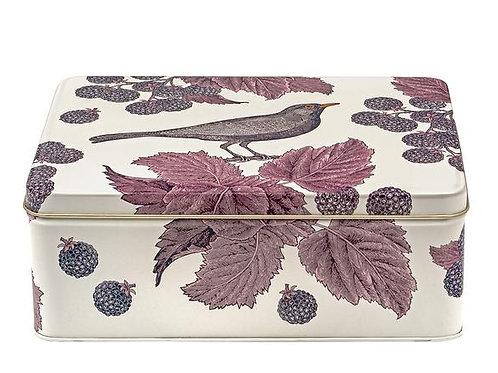 'Blackbird & Bramble' Rectangular Tin by Thornback & Peel