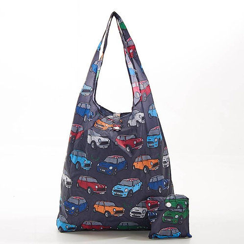 Mini (Grey) Recycled Shopping Bag by EcoChic