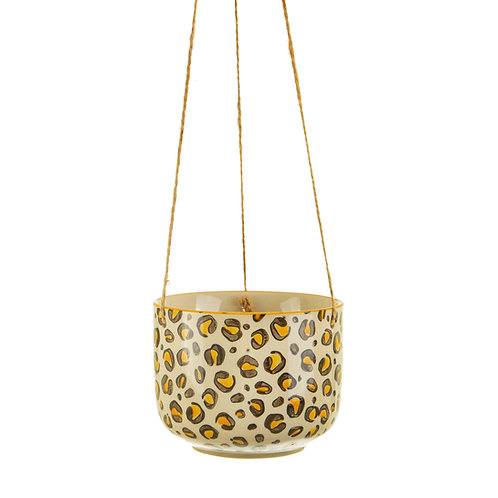 Leopard Love Hanging Planter by Sass & Belle