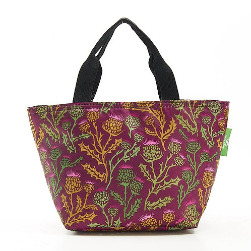 Thistles (Purple) Recycled Lunch Bag by EcoChic