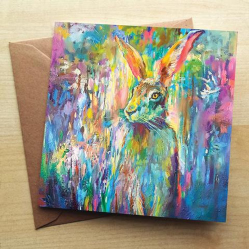 Woodland Hare Card & Coaster Set
