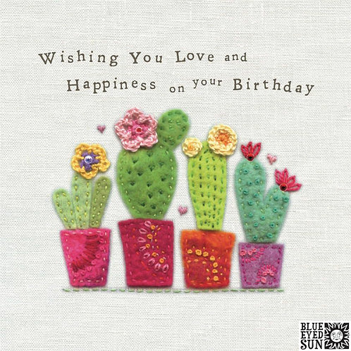 Touchy Feely Cacti Birthday Card