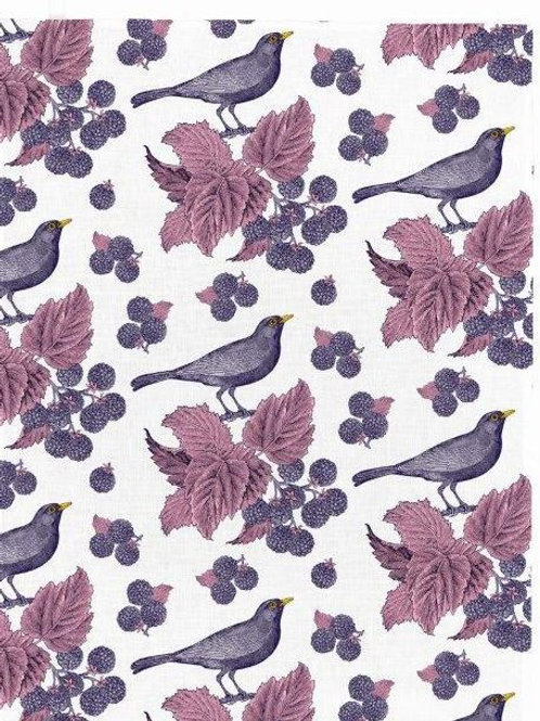 Blackbird & Bramble Tea Towel