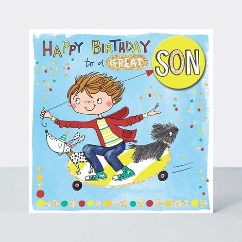 Skateboarding Son Birthday Card