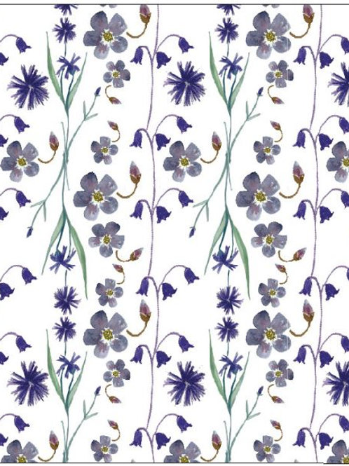 'Cornflowers & Bells' Seed Card by Hannah Marchant