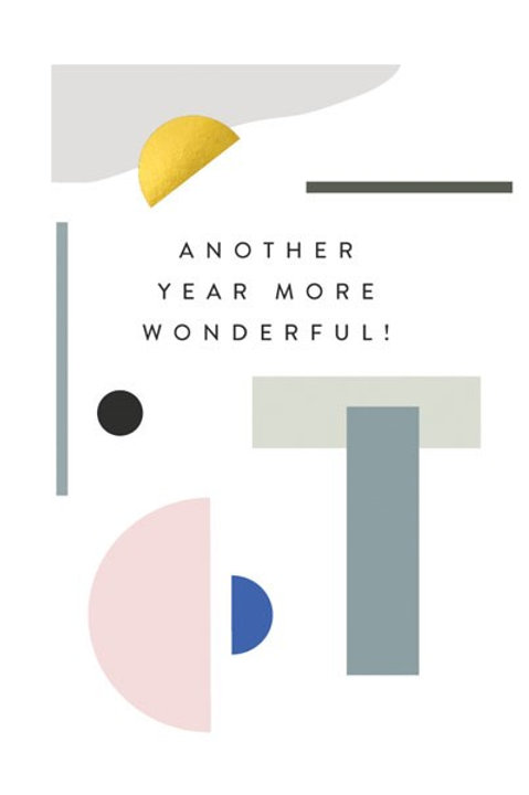'Balance' More Wonderful Birthday Card
