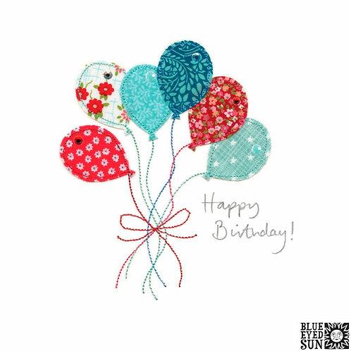 Sew Delightful Balloons Birthday Card