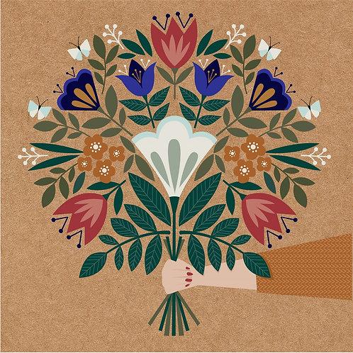 'Meadow Blue' Bouquet Card