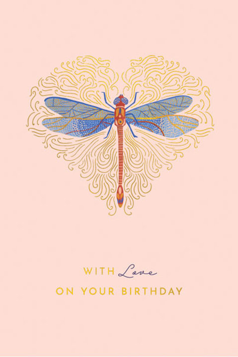 Tranquility 'Dragonfly' Birthday Card