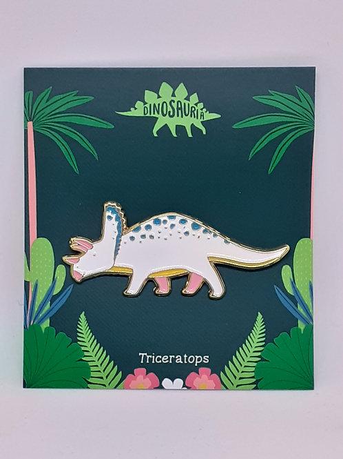 Dinosaur Pin Badge - Triceratops