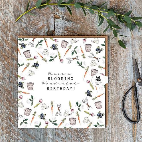National Trust 'Gardening' Birthday Card