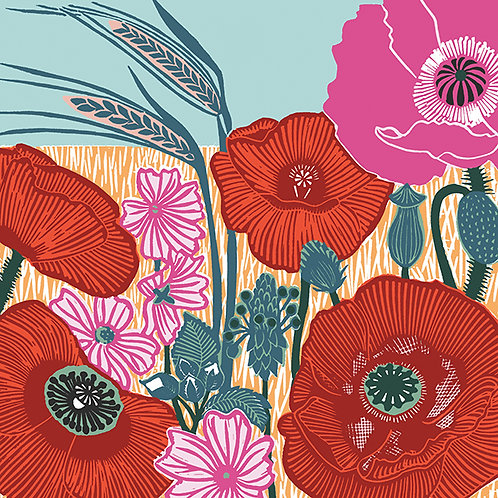 Nature Trail 'Poppies' Card