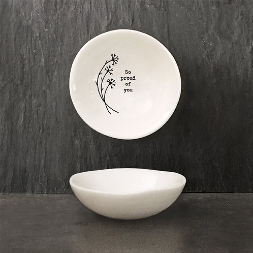 Small 'So Proud' Hedgerow Porcelain Bowl
