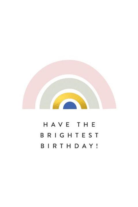 'Balance' Brightest Birthday Card