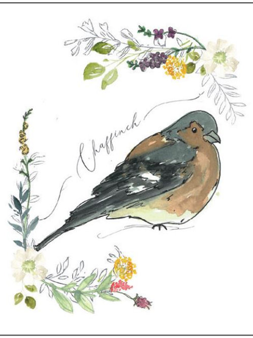 'Chaffinch' Seed Card by Hannah Marchant