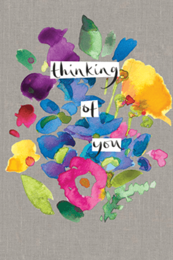 Thinking of You Ink Collage Card by Sarah Kelleher