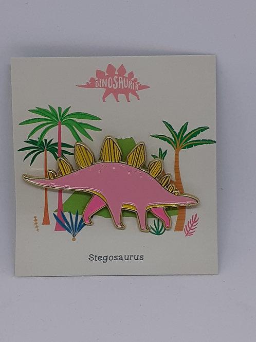 Dinosaur Pin Badge - Stegosaurus