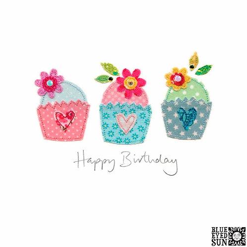 Sew Delightful Cupcakes Birthday Card