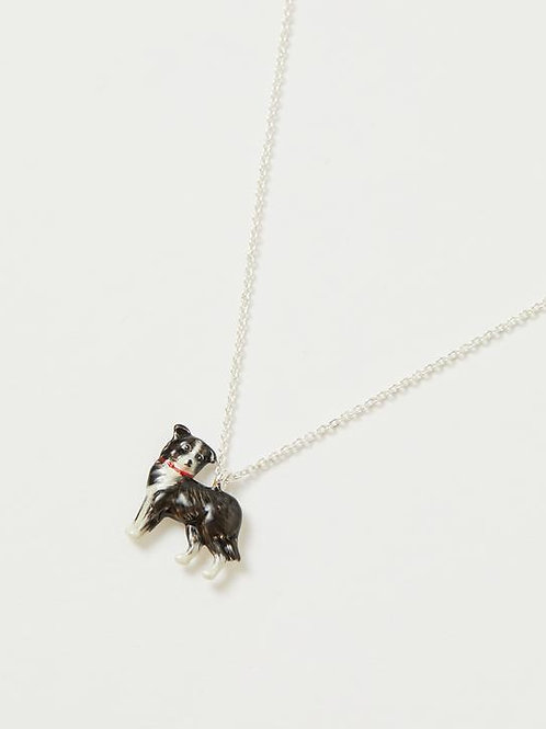Enamel Dog Short Necklace by Fable