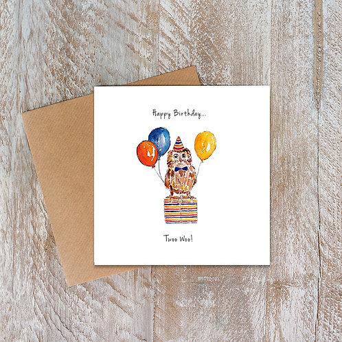 Party Animals Owl Birthday Card