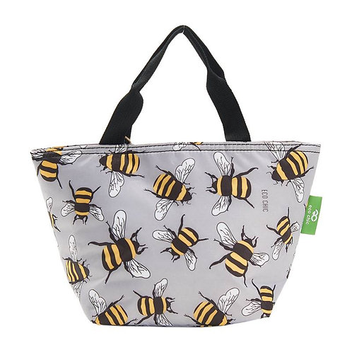 Bees (Grey) Recycled Lunch Bag by EcoChic