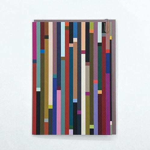 'Stripe' Card - Vertical