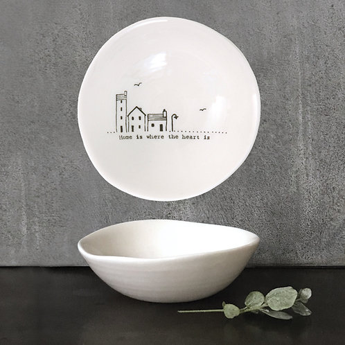 Medium 'Home' Wobbly Porcelain Bowl