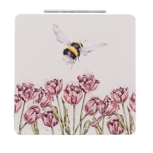 'Flight of the Bumblebee' Compact Mirror by Wrendale Designs
