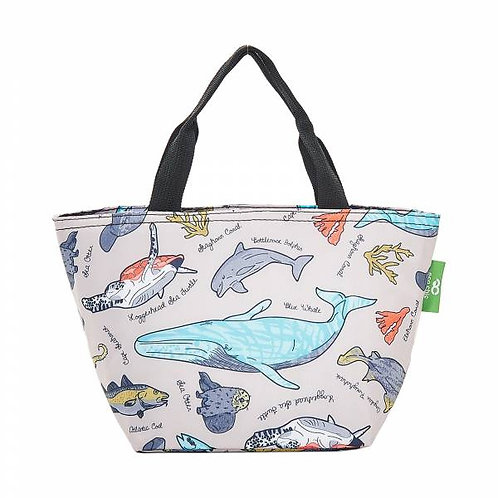 Sea Creatures (Grey) Recycled Lunch Bag by EcoChic