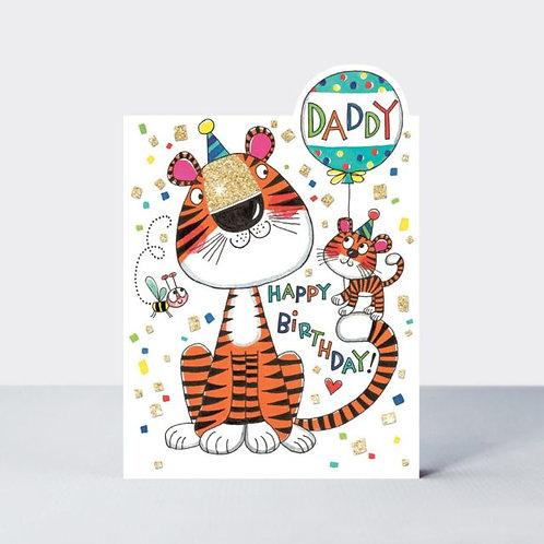 Daddy Tiger Birthday Card