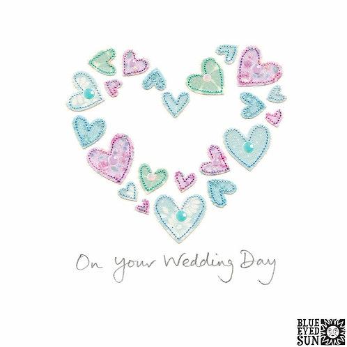 Sew Delightful Wedding Day Heart of Hearts Card