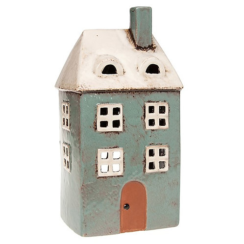 Tall Duck Egg Tealight House by Village Pottery