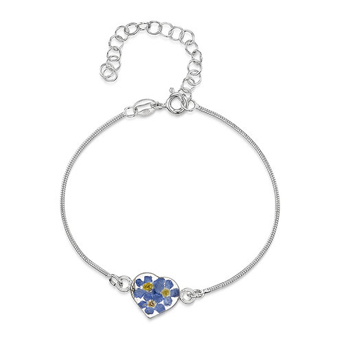 Forget-Me-Not Heart Bracelet/Anklet by Shrieking Violet
