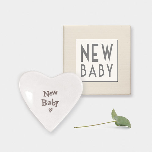 New Baby Mini Porcelain Heart Dish