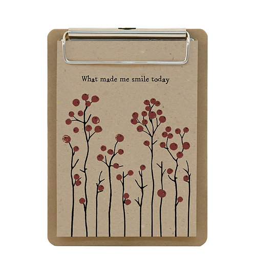 'What Made Me Smile' Clipboard and Notepad