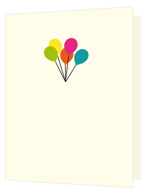 'Bright New Things' Balloons Card