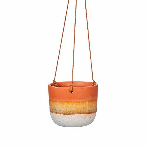 Mojave Glaze Terracotta Hanging Planter by Sass & Belle