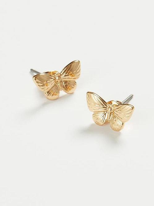 Gold Butterfly Earrings by Fable