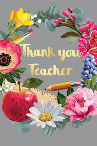 Thank You Teacher Fabulous Foils Card by Sarah Kelleher