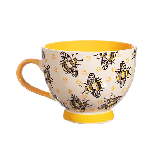 Busy Bees Hand-Stamped Mug by Sass & Belle