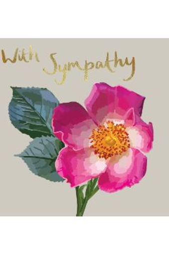 With Sympathy Botanical Golds Card by Sarah Kelleher