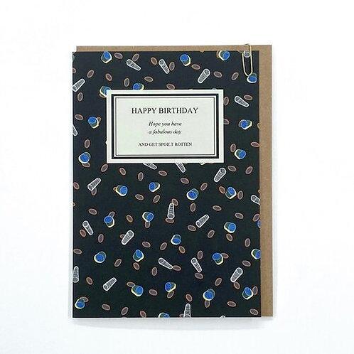 'Bookcase' Birthday Card - Black