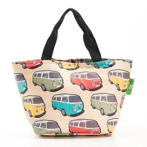 Camper Van (Cream) Recycled Lunch Bag by EcoChic